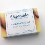 lemon lavender all natural handmade soap
