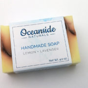 lemon lavender all natural handmade soap